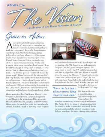 City Rescue Mission Vision Newsletter